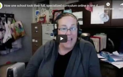 How one school took their full, specialized curriculum online in one day